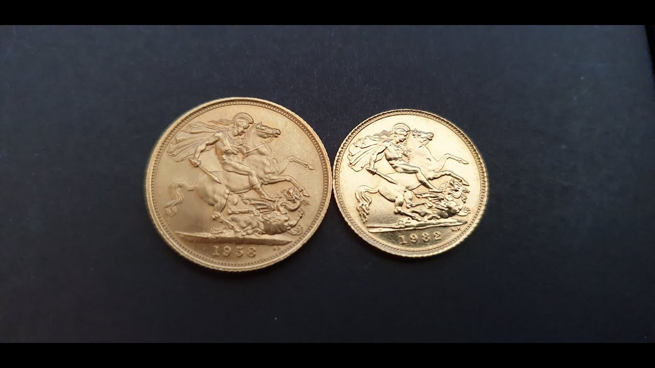 Difference between a Full Sovereign Coin and a Half Sovereign Coin